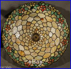 Chicago Mosaic Leaded Glass Table Lamp Colorful Smart Antique A Great Lamp