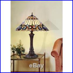 Chloe Tiffany Style Victorian Design 2 light Table Lamp