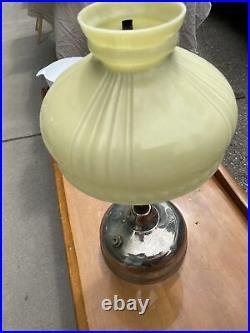 Coleman CQ Quick-Lite 54 Table Lamp With Milk Glass Shade Kerosene Patent 1919