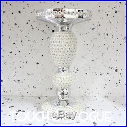 Contemporary Venetian Mirror Glass Side Table Lamp Diamante Stand Romany Italian