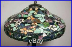 DALE TIFFANY TT90428 Peony 27 inch 60w Antique Verde Table Lamp Rolled Glass
