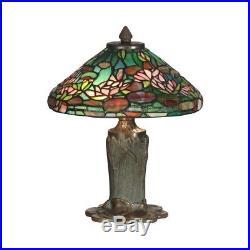 Dale Tiffany Floral Leaf Tiffany Table Lamp TT10334