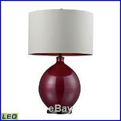 Dimond Blown Glass LED Table Lamp in Cerise Pink and Black Nickel D268-LED