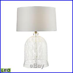 Dimond Lighting Landscape Painted Bell Glass LED Table Lamp in Clear and White