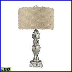 Dimond Lighting Ribbed Glass LED Table Lamp in Silver Mercury