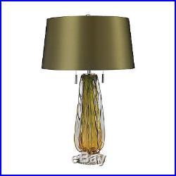 Dimond Modena Blown Glass Green Table Lamp 60 Watt Medium Bulb, Green Finish
