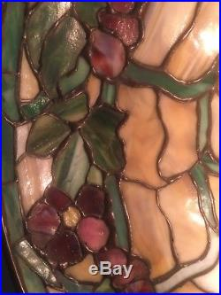 Duffner Kimberly, Leaded, Slag, Stained Glass Shade, Arts Crafts, Handel Lamp Era