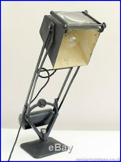 Early Hadrill & Horstmann Pluslite' Table Lamp With Magnifying Glass