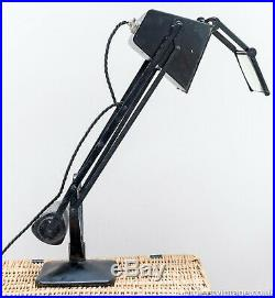 Early Hadrill & Horstmann Pluslite' Table Lamp With Magnifying Glass 1940's