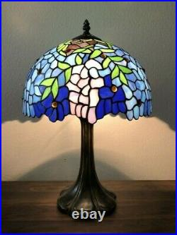 Enjoy Tiffany Table Lamp Stained Glass Flower Antique Vintage ET1201 W12H19