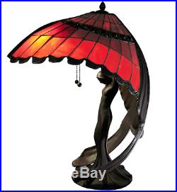 Executive Desk Lamp Bankers Halogen Tiffany Style Table Stained Glass Art Deco