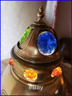 Extremely Rare Art Nouveau Jugendstil Table lamp Brass and Glass