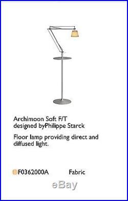 Flos Archimoon Soft Floor Table Lamp Philippe Starck NIB