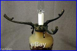 GALLE ACID CUT BACK TABLE LAMP all orig PERFECT CONDITION OF THE PERIOD