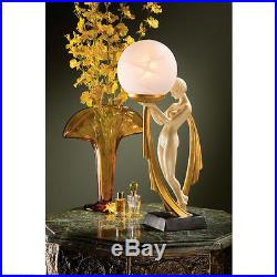 Graceful Art Deco Lovely Lady Sculptural Lamp 16 Glass Orb Light Lamps NEW