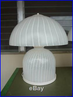 Great Pair 70's Italian Murano Glass Mushroom Lamps