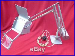 Hadrill & Horstman Pluslite' Table Lamp With Magnifying Glass 1950's