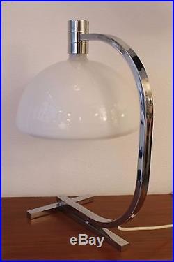 Huge FRANCO ALBINI mid century table desk Lamp Modern Design 50s Sirrah glass
