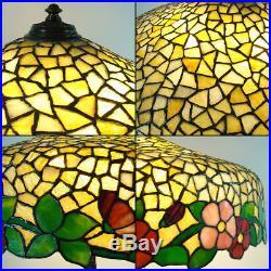 Huge Wilkinson Leaded Glass Table Lamp 1910