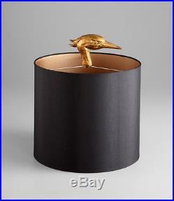 Ibis Table Lamp Black & Gold Horchow Cyan Design Z Gallerie Crane Modern Glam