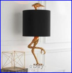 Ibis Table Lamp Heron Crane Bird Whimsical Table Lamp 05206 Black Shade
