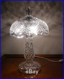 Irish Waterford Crystal ACHILL 19 Table Lamp Crystal Shade Made in Ireland