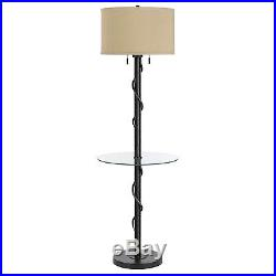 Iron Vine Springs Floor Lamp with Glass Table