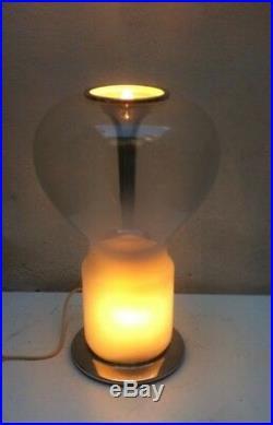 Italian Mid Century Space Age Murano Glass table lamp Mangiarotti Artemide1960s