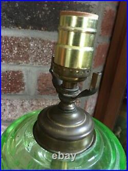 Jadeite Green Uranium Glass 29 Table Lamp Warren Kessler / Marbro Lamp Co