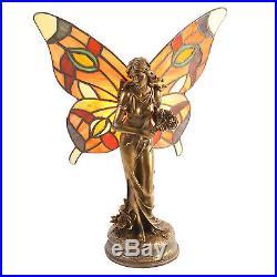 Juliana Tiffany Style Lamp Fairy Carrying Flowers, Table Lamp, Art Deco Lamp