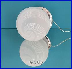 LA MURRINA lovely table lamp swirl filigrana Murano glass vintage 70 U