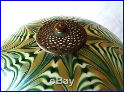 LUNDBERG STUDIOS Art Glass Accent Table Lamp Investment quality example