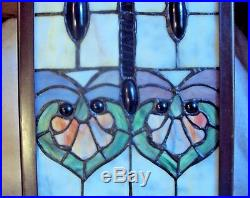 Large 24 Tiffany Style Stained Glass Floor Table Lamp Piller Tower Plant Stand