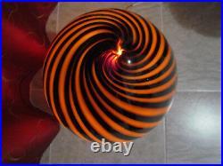 Large Murano Vetri Glass Egg Lamp Brown 1970's Made in Italy