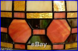 Large Unsigned Leaded Glass Table Lamp Colorful Smart Antique A Great Lamp