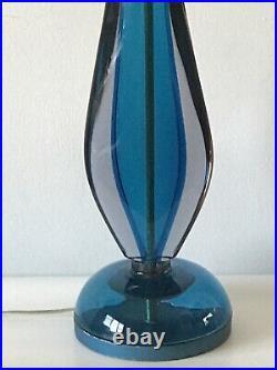 MONUMENTAL FLAVIO POLI MURANO ART GLASS TABLE LAMP 1950s SEGUSO ITALIAN MODERN