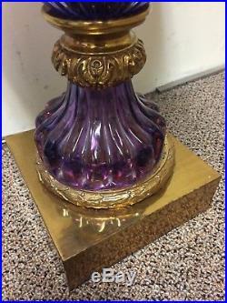 Marbro Company Pair Vintage Murano Lamps Rare Venetian Glass