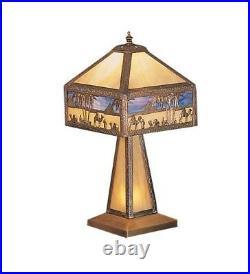 Meyda Tiffany Egypt Camel Stained Glass / Tiffany Table Lamp