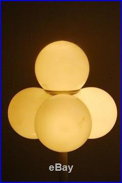 Mid Century 4-lights Sputnik Space Age Vintage Table Desk Lamp 60s Atomic Era