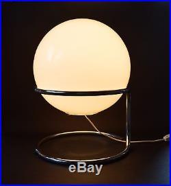 Mid Century Czech 1960's Floor, Table Lamp Modernism Big Ball Shade