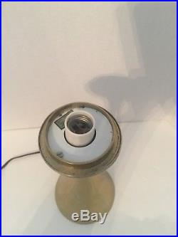 Mid Century Modern Laurel Brass Table Lamp Base Only(Takes Glass Mushroom Shade)