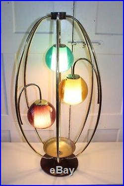 Mid Century Modern Modeline Walnut Table Lamp