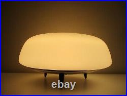 Mid-century Modern Atomic Ranch UFO Blasted Glass Table Lamp One Off Cool Piece