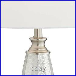 Modern Table Lamps Set of 2 Mercury Glass Brushed Nickel for Living Room Bedroom