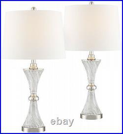 Modern Table Lamps Set of 2 with USB Charging Port Living Room Bedroom Bedside