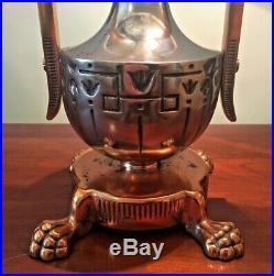 Moe Bridges Company Reverse Hand Painted Table Lamp Circa 1920 Base Glass Shade