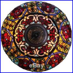 Multicolor Stained Glass And Resin 27.5-inch High Parisian Double-lit Table Lamp