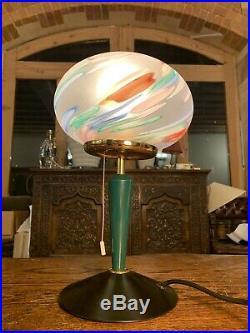 Murano Glass Italiana Luce Vintage Italian Table Lamp, MCM, Retro Design