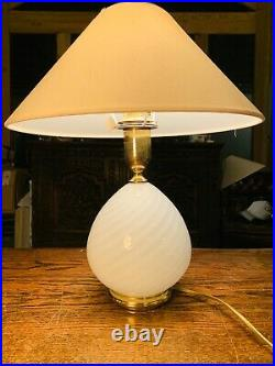 Murano Glass Swirl Table Lamp, By Zonca-Italy Vintage Light 1970s