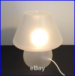 Mushroom table lamp MURANO satined glass lampada tavolo fungo vintage design70